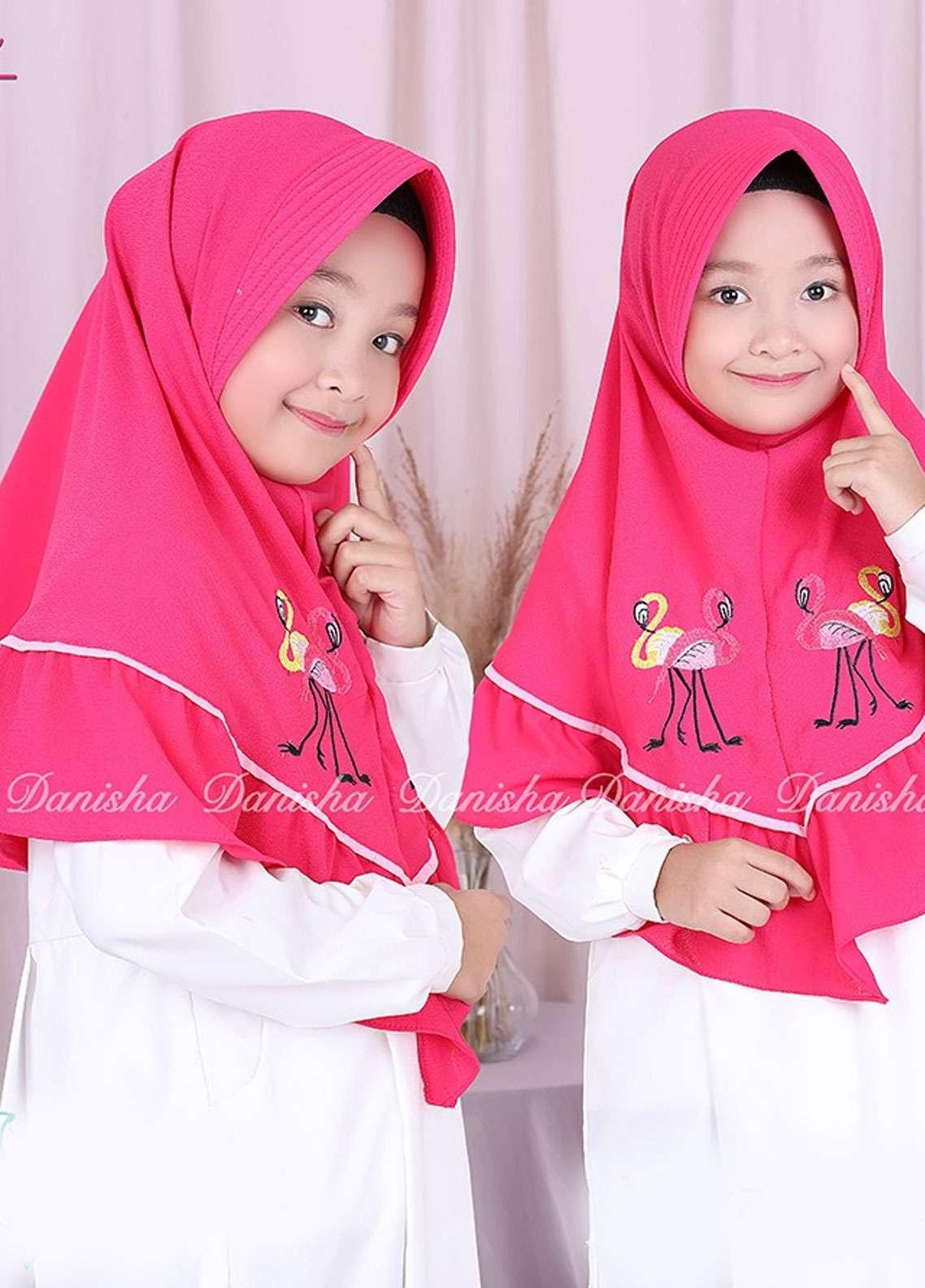 Danisha | Style of Hijab  Bubble Pop  Girls Scarves HH Danisha Flamingo 10 Dark Pink