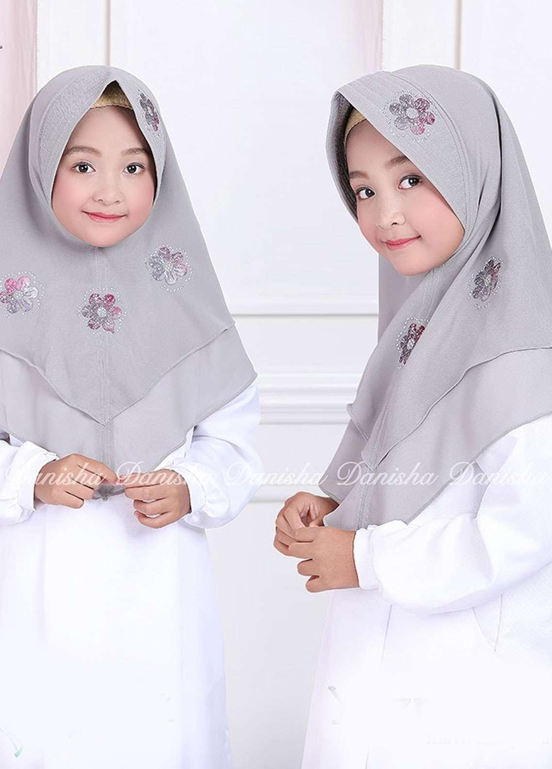 Danisha | Style of Hijab  Bubble Pop  Girls Scarves HH Danisha Yuzma 03 Grey