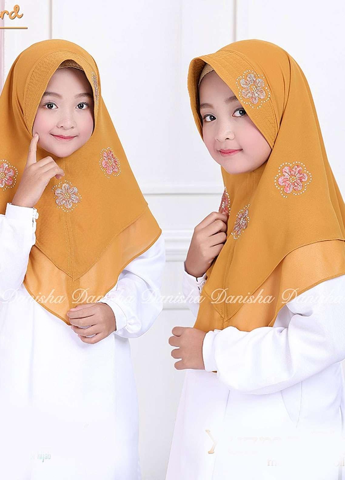 Danisha | Style of Hijab  Bubble Pop  Girls Scarves HH Danisha Yuzma 05 Mustard