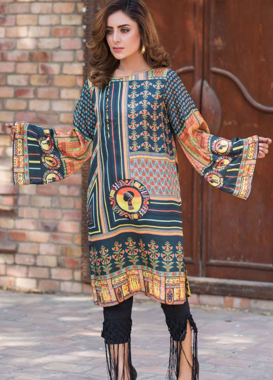 Fateh Printed Cotton Unstitched Kurties Cotton FS-0109 - Mid Summer Collection