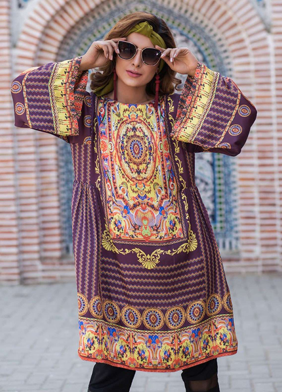 Fateh Printed Cotton Unstitched Kurties Cotton FS-0112 - Mid Summer Collection