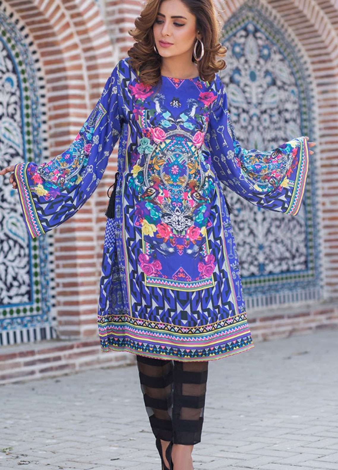 Fateh Printed Silk Unstitched Kurties Silk FS-01110 - Mid Summer Collection