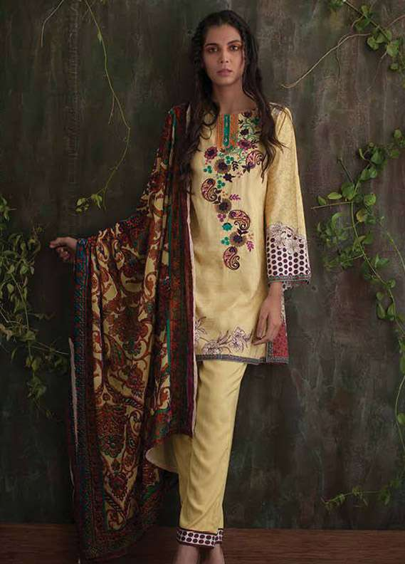 Deeba Embroidered Velvet Unstitched 3 Piece Suit DB17V 11B