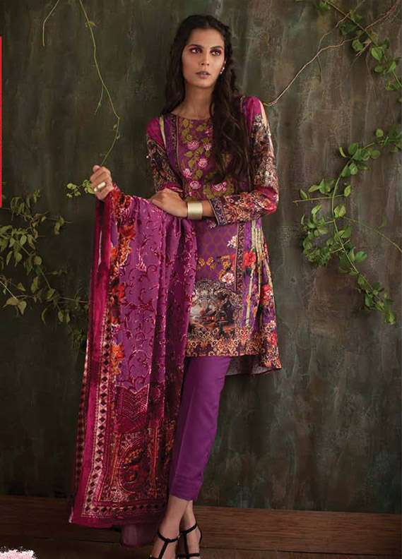 Deeba Embroidered Velvet Unstitched 3 Piece Suit DB17V 9A