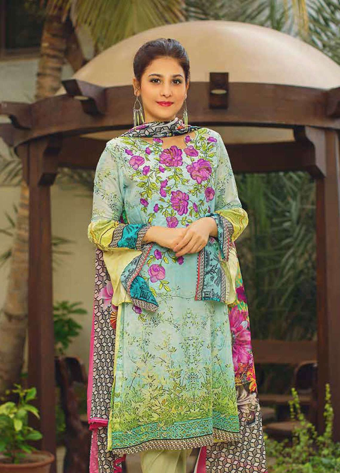 Deeba Embroidered Lawn Unstitched 3 Piece Suit DB19L 07 - Spring / Summer Collection