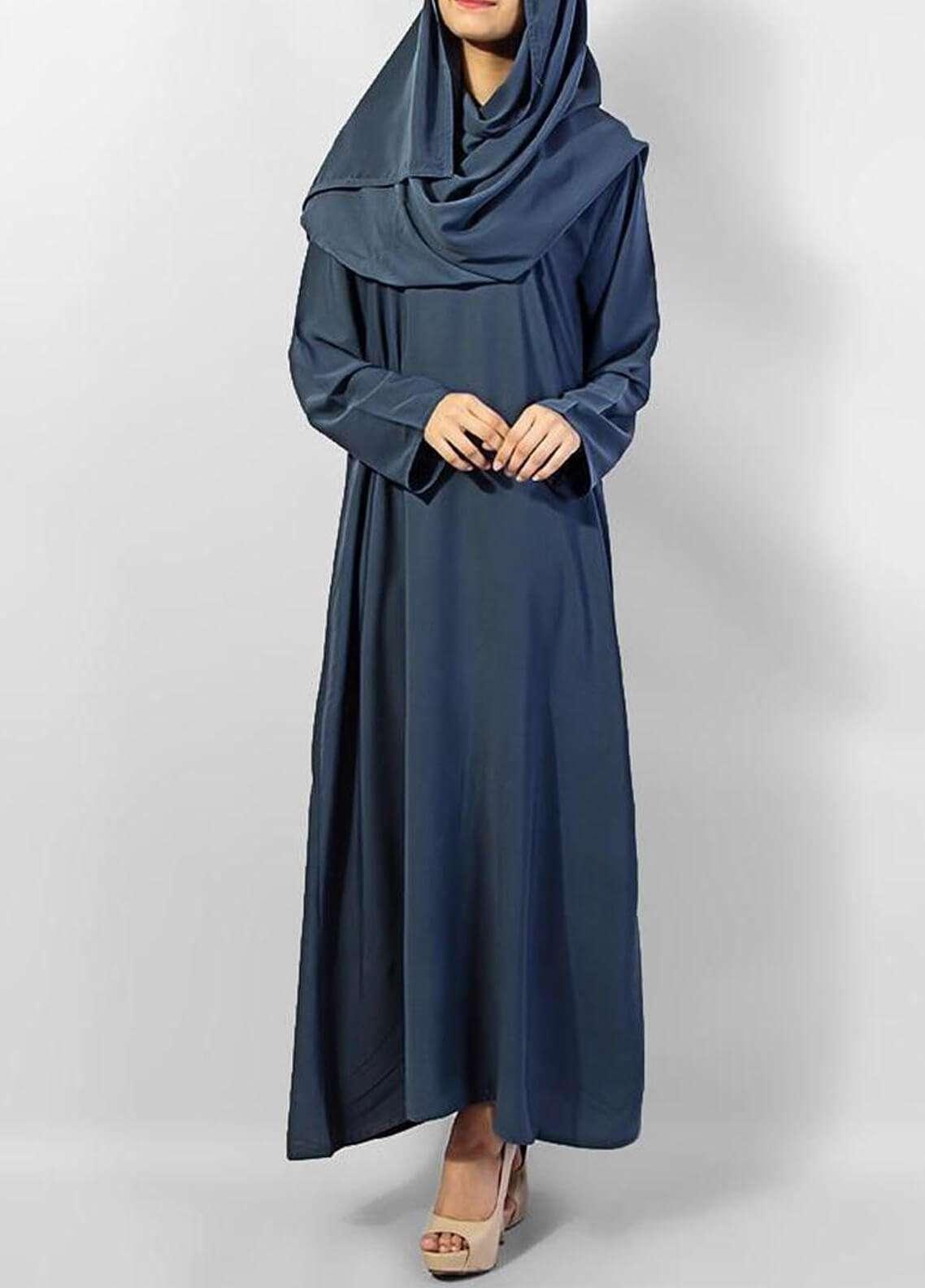Hijab ul Hareem  Abayas Designered Pull Over Abaya 0120-P (1)