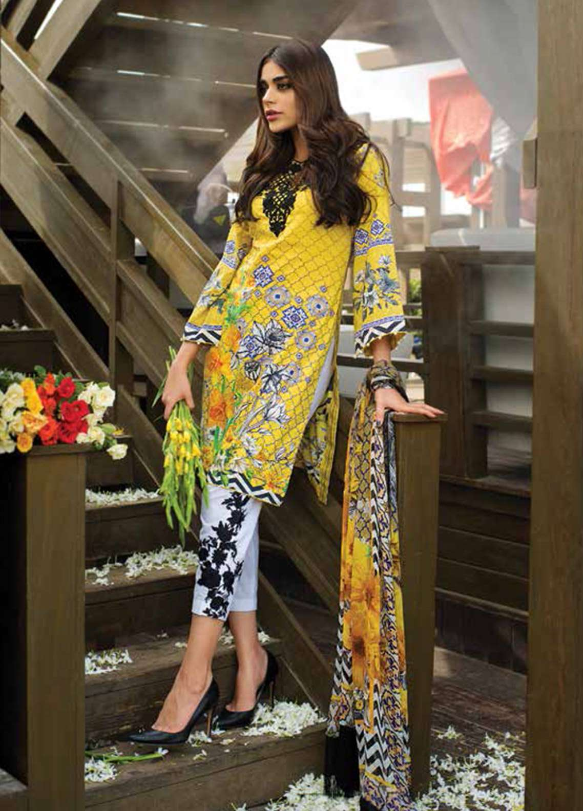 Doric By Reemal Khan Embroidered Lawn Unstitched 3 Piece Suit DO18L 03 - Luxury Lawn Collection