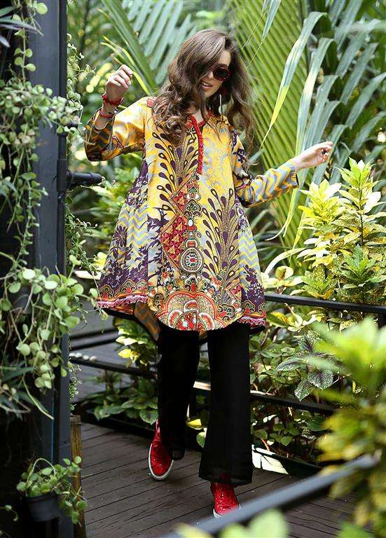 Edenrobe Embroidered Viscose Stitched Kurtis ELTKP19-66597