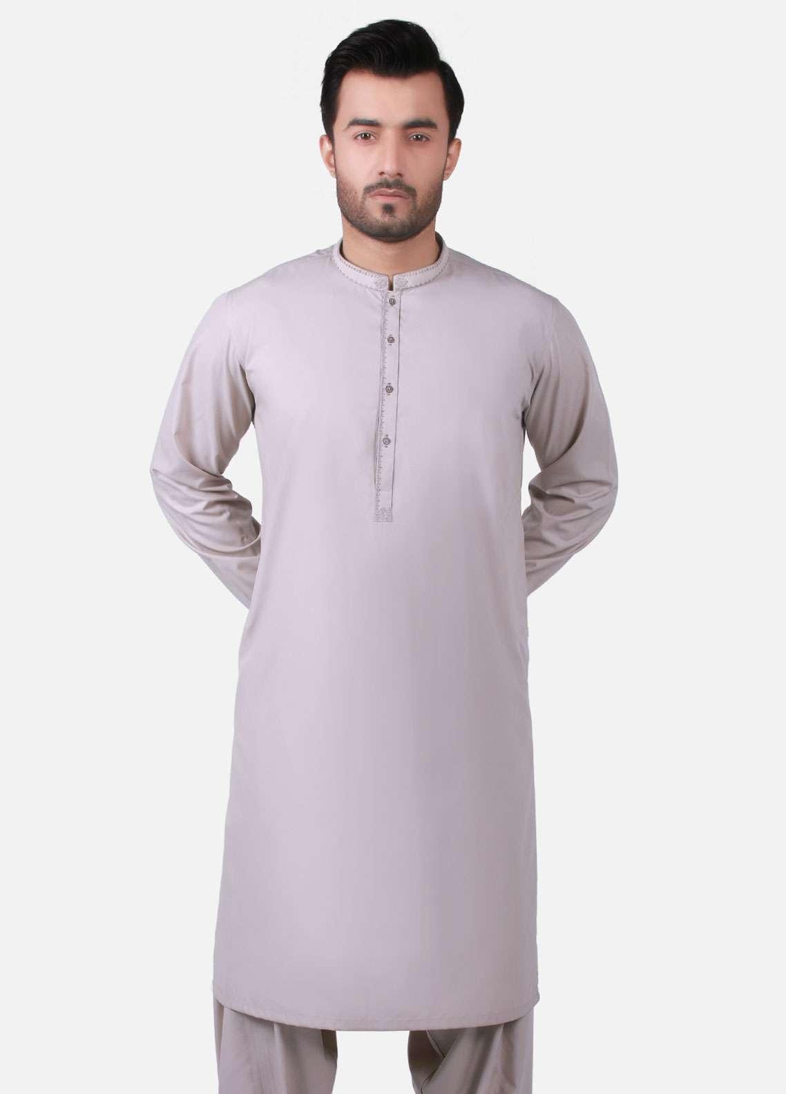 Edenrobe Cotton Formal Men Kameez Shalwar - Coffee EMTKS-40735