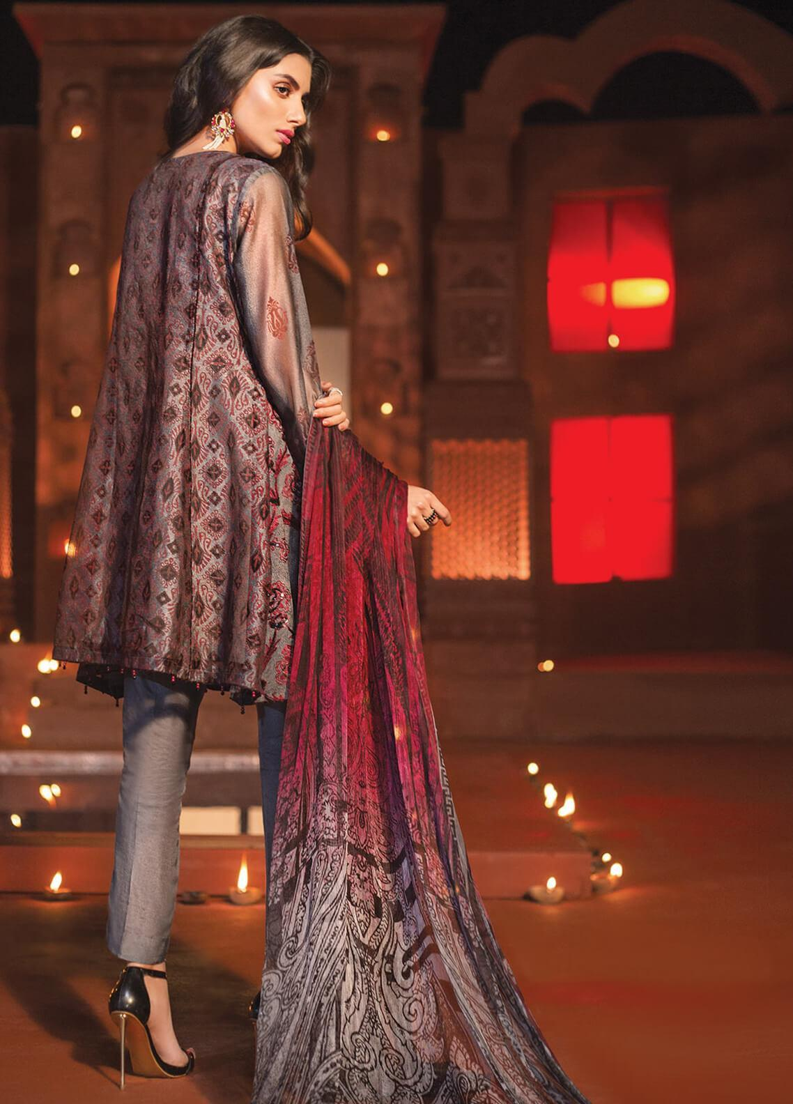 ca27c93dadd Edenrobe Embroidered Khaadi Net Unstitched 3 Piece Suit 019715 - Festive  Collection. Online only