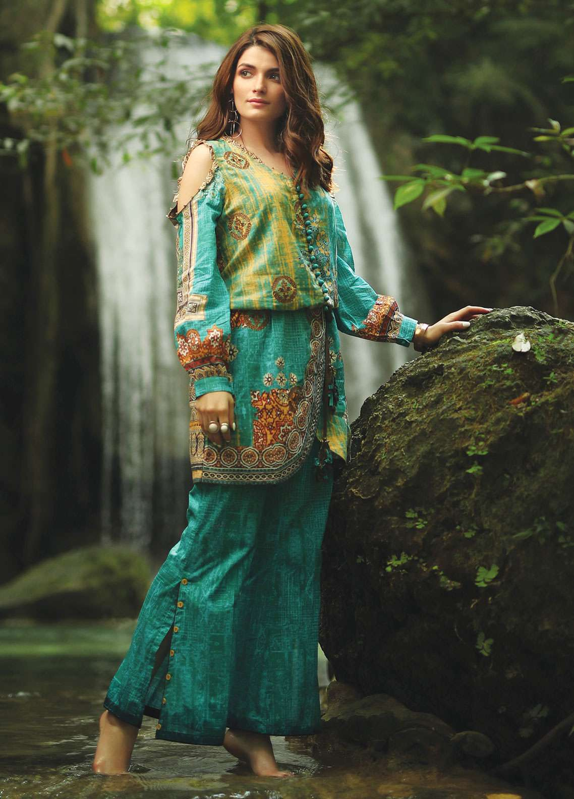 Edenrobe Embroidered Lawn Unstitched 2 Piece Suit 019509 - Spring / Summer Collection