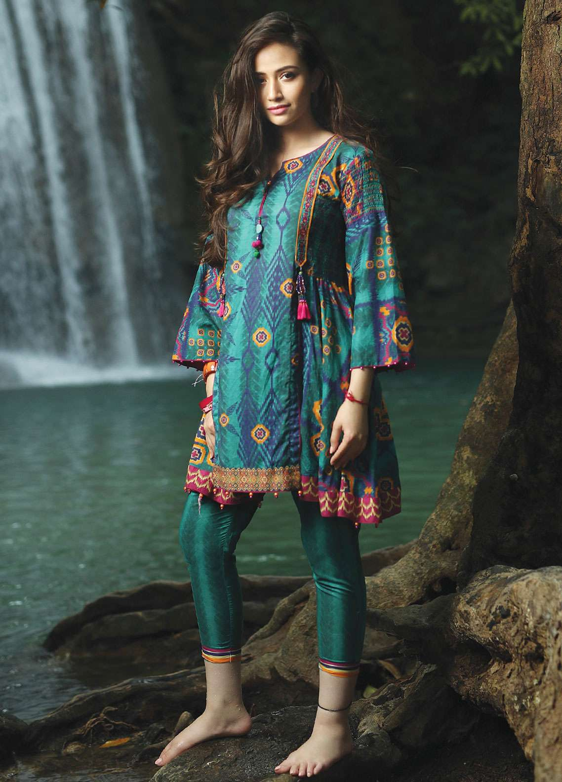 Edenrobe Embroidered Lawn Unstitched 2 Piece Suit 019510 - Spring / Summer Collection