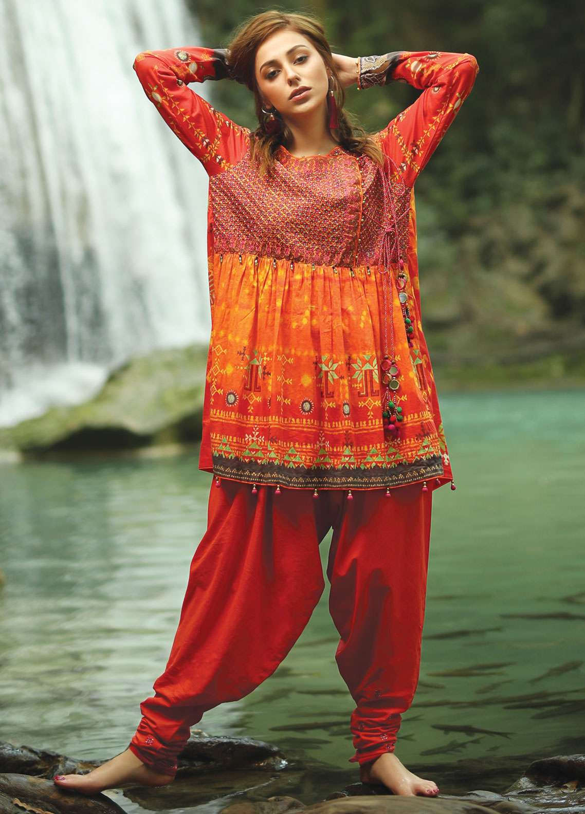 Edenrobe Embroidered Lawn Unstitched 2 Piece Suit 019511 - Spring / Summer Collection
