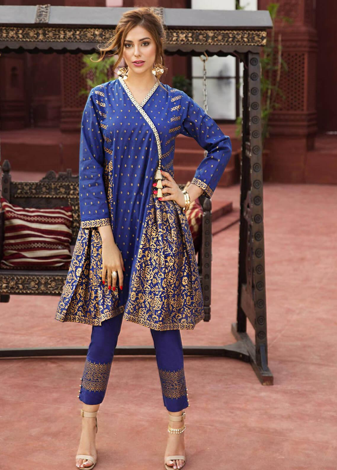 Edenrobe Embroidered Jacquard Stitched 2 Piece Suit 066441