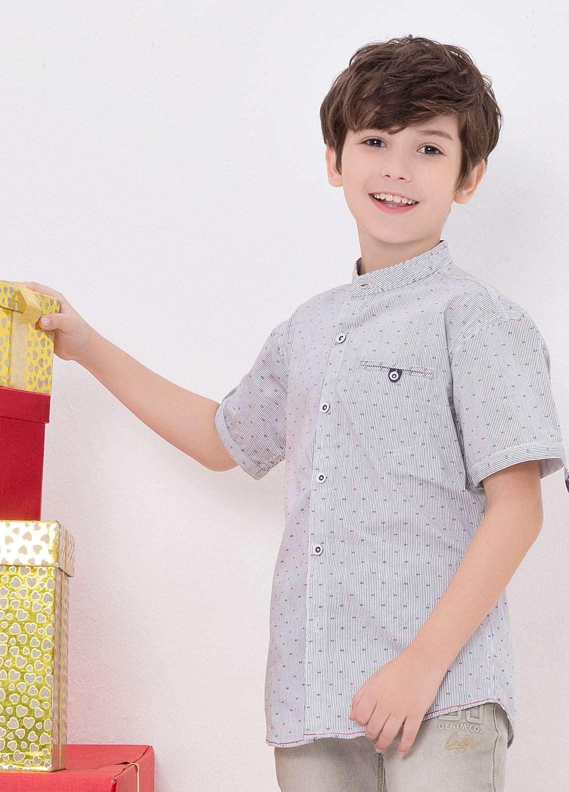 Edenrobe Cotton Casual Shirts for Boys - Purple EDK18CS 27182