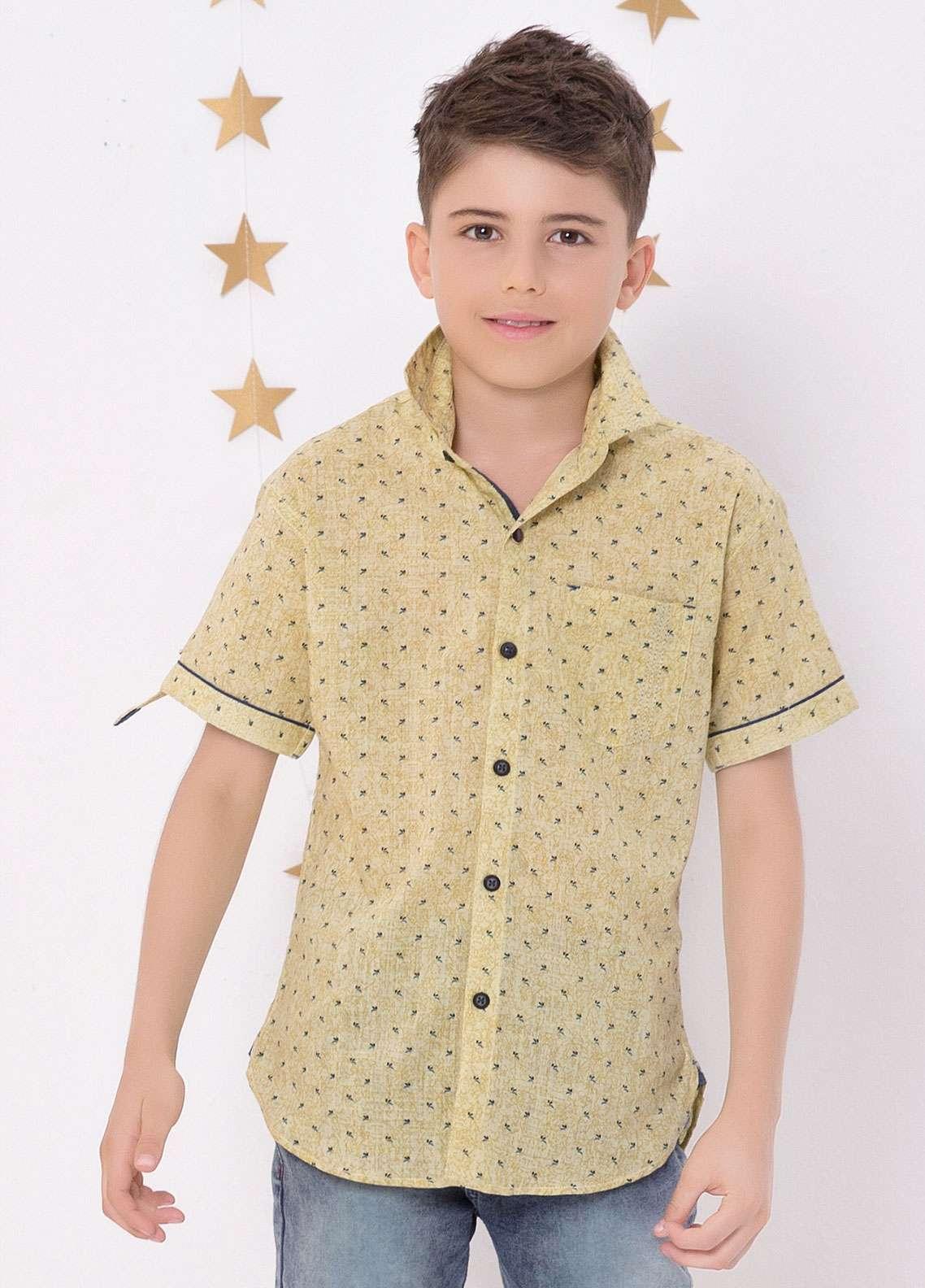 Edenrobe Cotton Casual Boys Shirts - Brown EDK18CS 27185