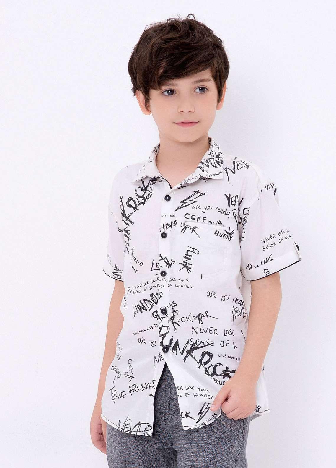 Edenrobe Cotton Casual Shirts for Boys - White EDK18CS 27186