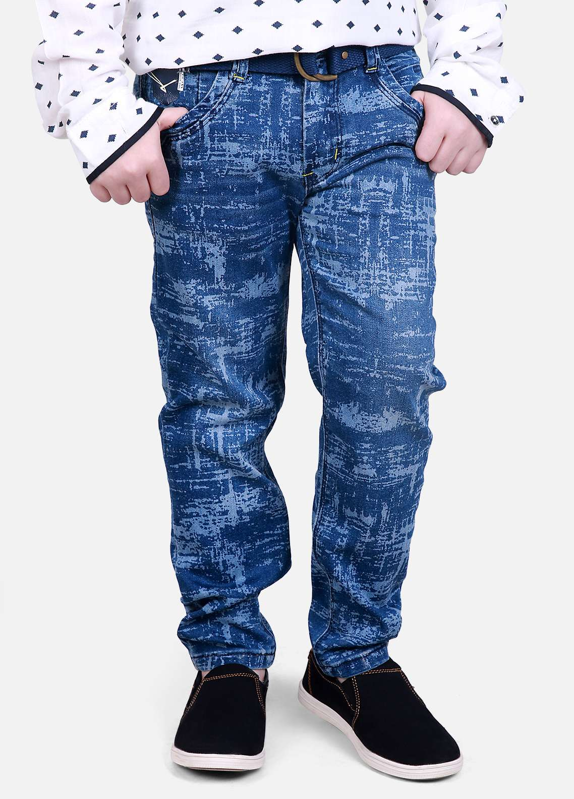 Edenrobe Jeans Faded Boys Pants - Blue EDK18P 5696