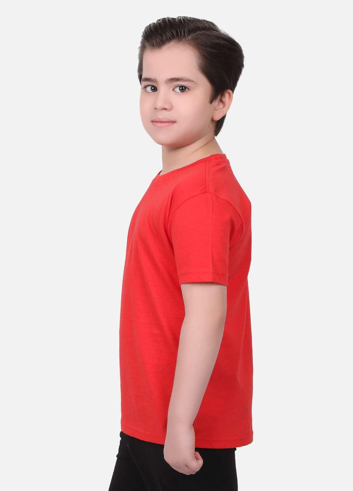 317516c66 Edenrobe Cotton Casual Boys T-Shirts - Red EDK18TS 007