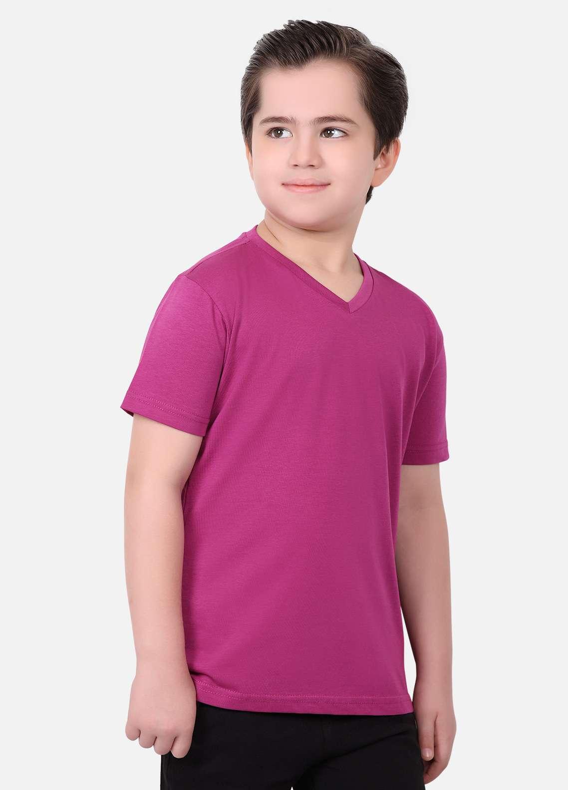b48bb9821 Edenrobe Cotton Casual Boys T-Shirts - Purple EDK18TS 016