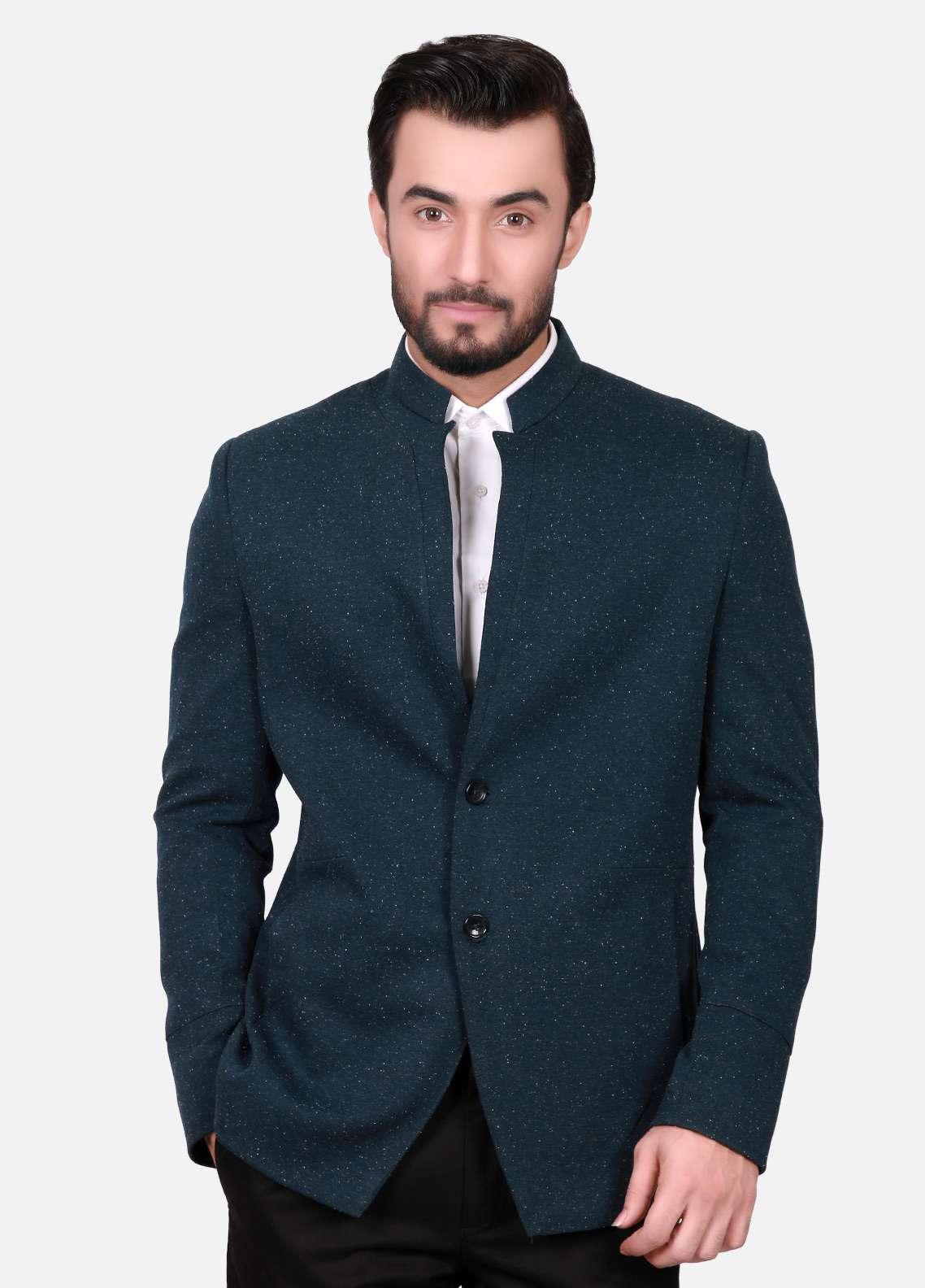 Edenrobe Cotton Casual Men Blazers - Blue EDM18B-6591
