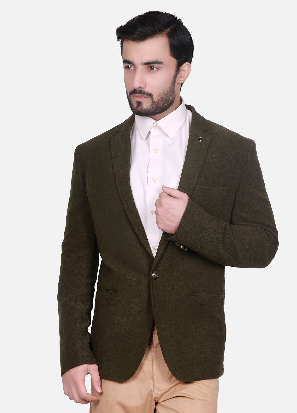 Edenrobe Cotton Casual Men Blazers - Brown EDM18B-6617