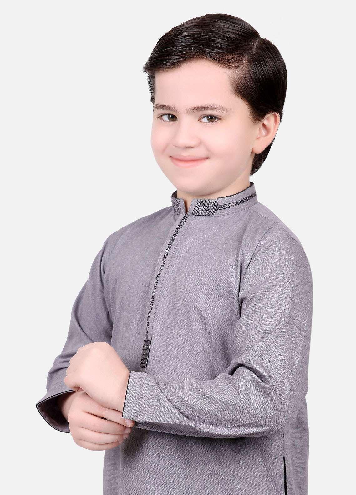 Edenrobe Cotton Fancy Boys Kameez Shalwar - Blue EDS18B 3538