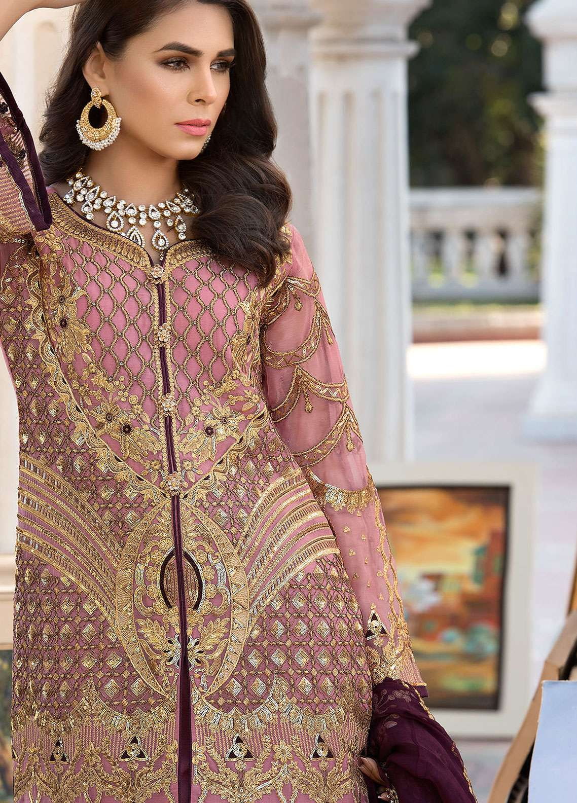 d4fb86905f Elaf Embroidered Chiffon Unstitched 3 Piece Suit ELF19C 03 - Luxury  Collection. USD 69.05. Elaf Embroidered ...