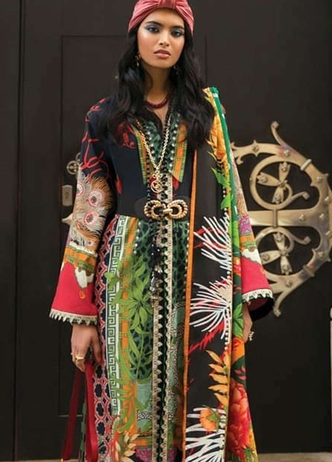 Elan Embroidered Lawn Unstitched 3 Piece Suit EL19L 11B FRENSI - Spring / Summer Collection