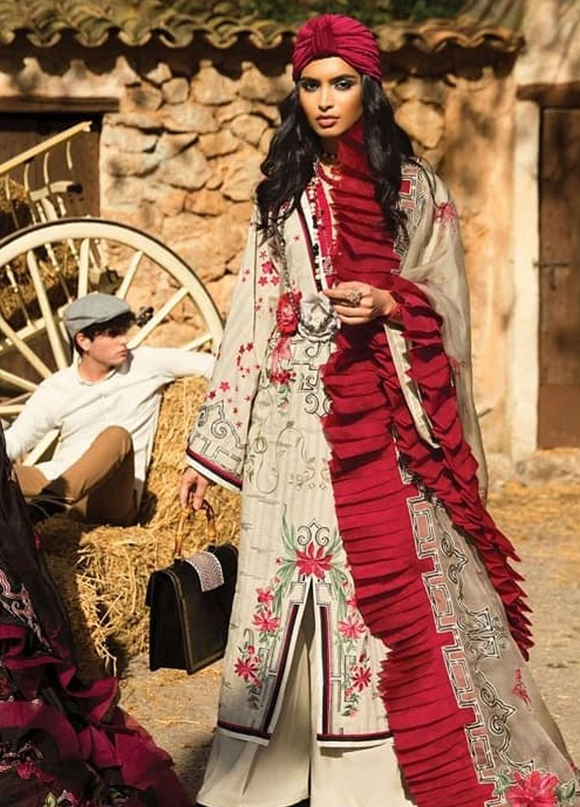 Elan Embroidered Lawn Unstitched 3 Piece Suit EL19L 14B DIAFANO - Spring / Summer Collection
