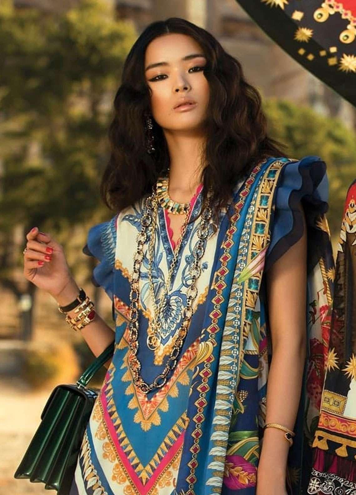 Elan Embroidered Lawn Unstitched 3 Piece Suit EL19L 2B PIRULI - Spring / Summer Collection