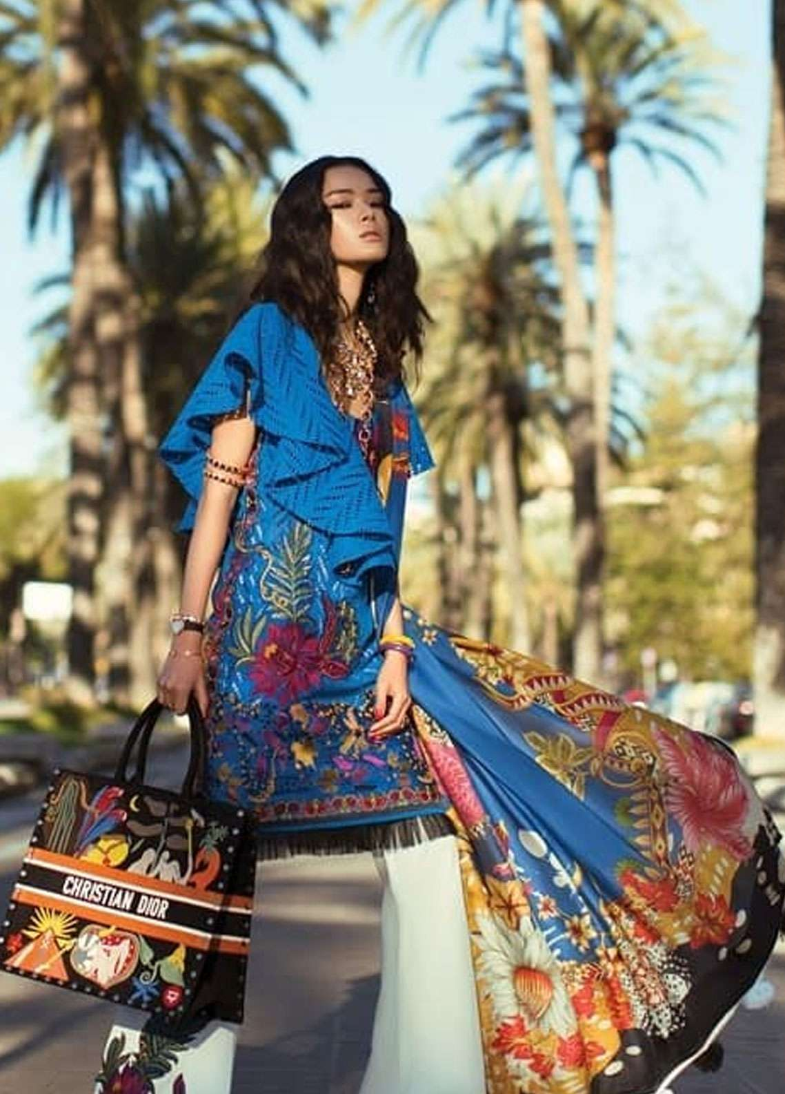 Elan Embroidered Lawn Unstitched 3 Piece Suit EL19L 6B CARICIA - Spring / Summer Collection