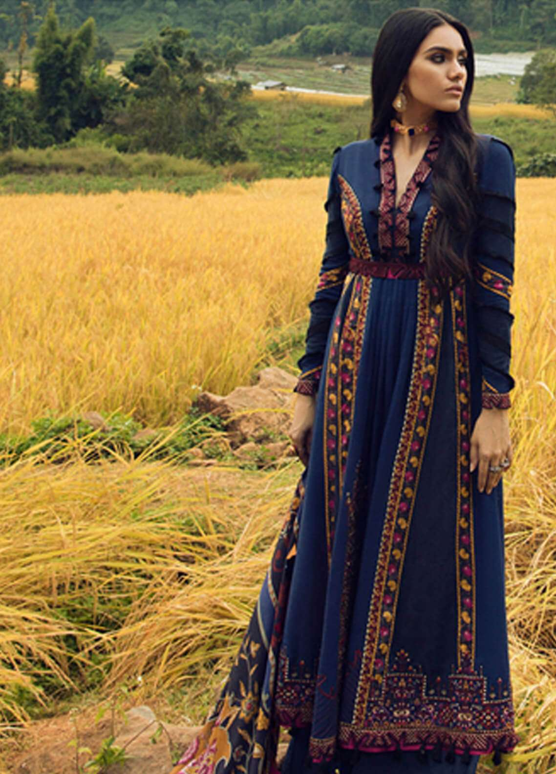 Elan Embroidered Silk Unstitched 3 Piece Suit EL18W Jai Dee - Winter Collection
