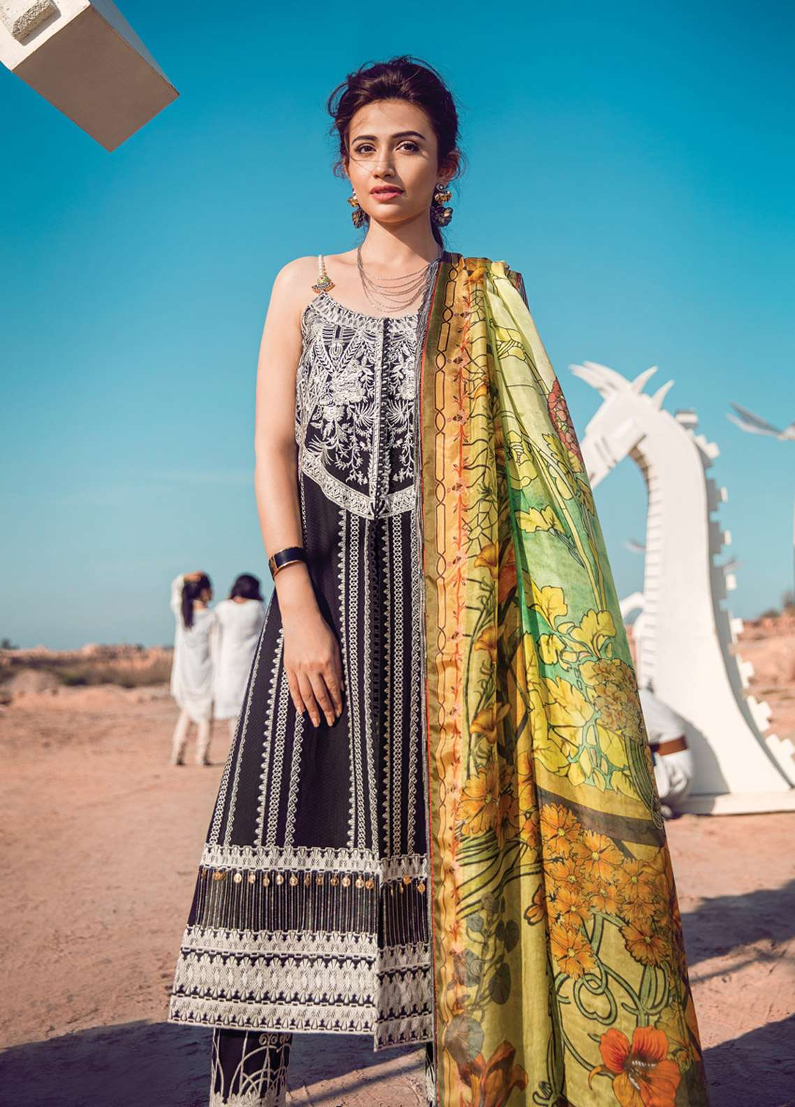 Epoque By Sana Yasir Embroidered Lawn Unstitched 3 Piece Suit EP18L 03 - Spring / Summer Collection