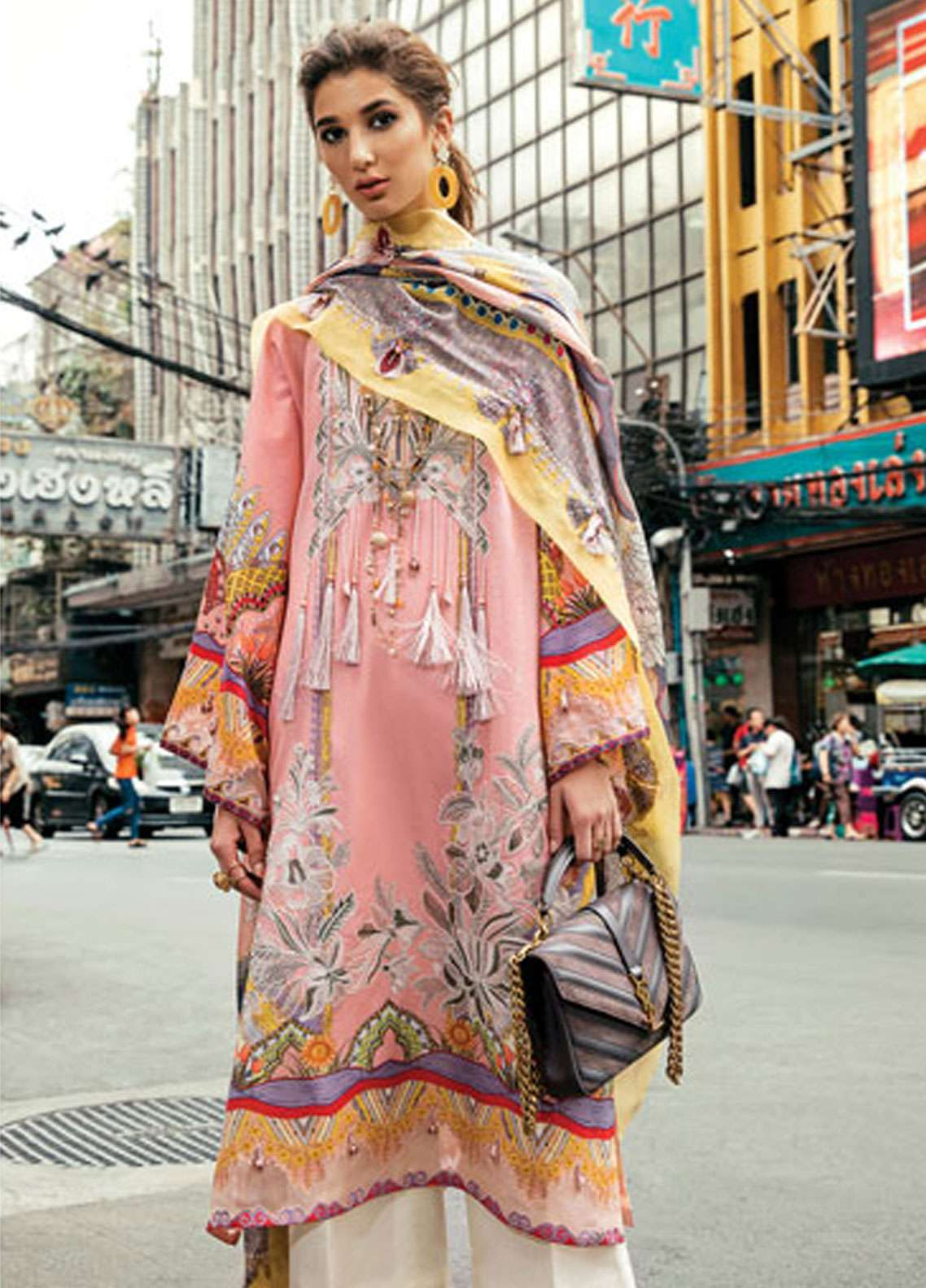 Epoque by Sana Yasir Embroidered Lawn Unstitched 3 Piece Suit EP19L 04 TROPICAL GUST - Spring / Summer Collection