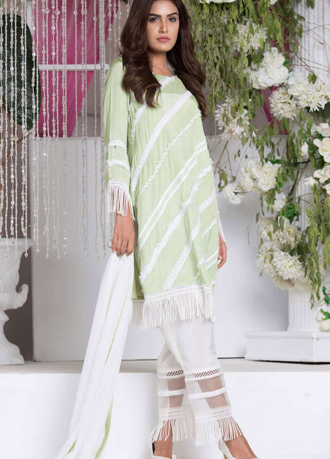 Chic Ophicial Embroidered  Stitched 3 Piece Suit EVENING BREEZE