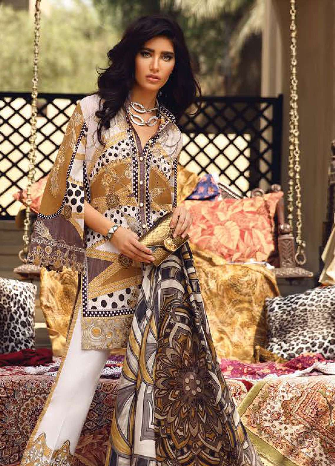 Faraz Manan Embroidered Pima Cotton Unstitched 3 Piece Suit FZM19L 2 - Spring / Summer Collection