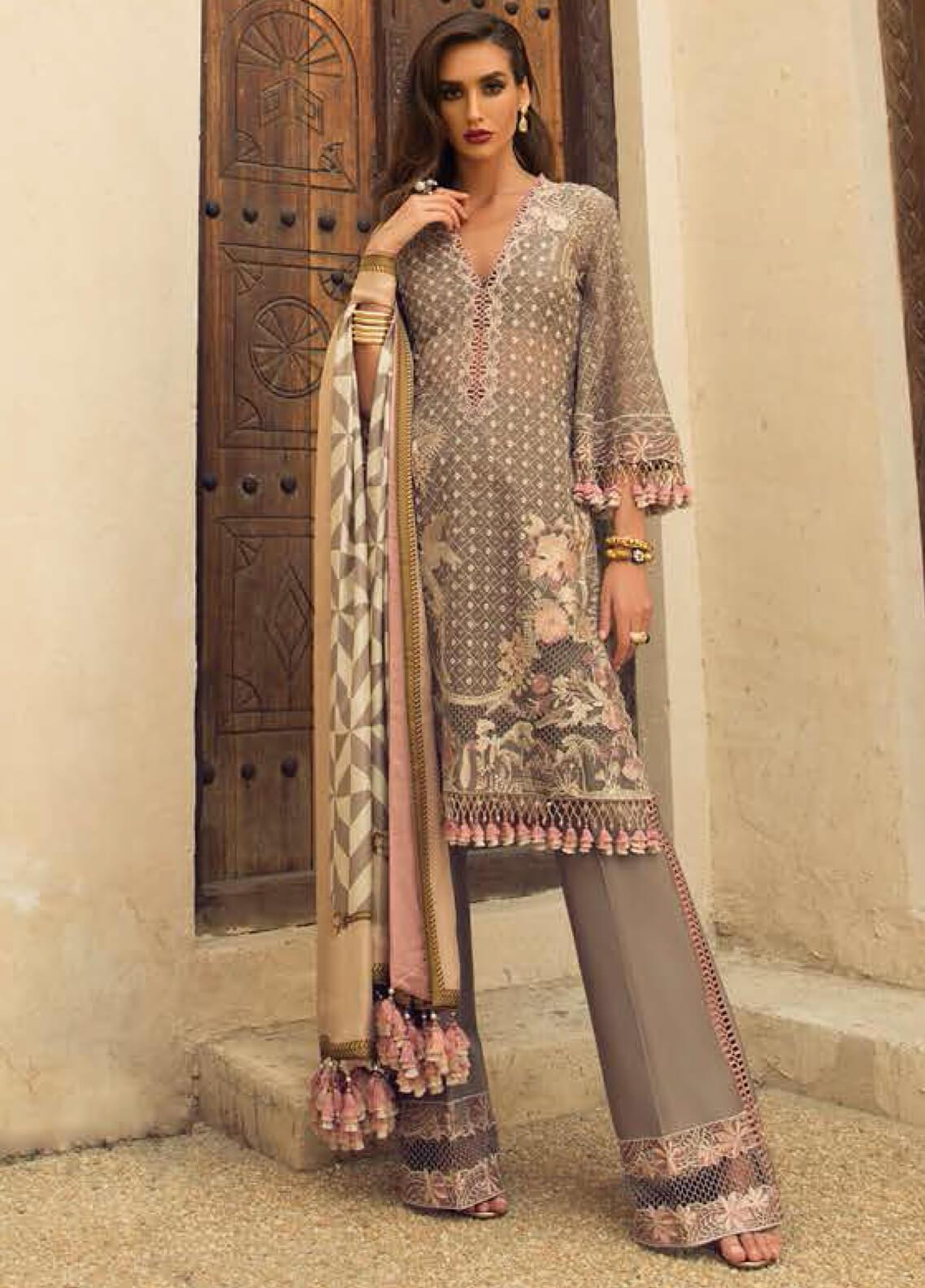 Faraz Manan Embroidered Organza Unstitched 3 Piece Suit FZM19LX 06 - Luxury Collection