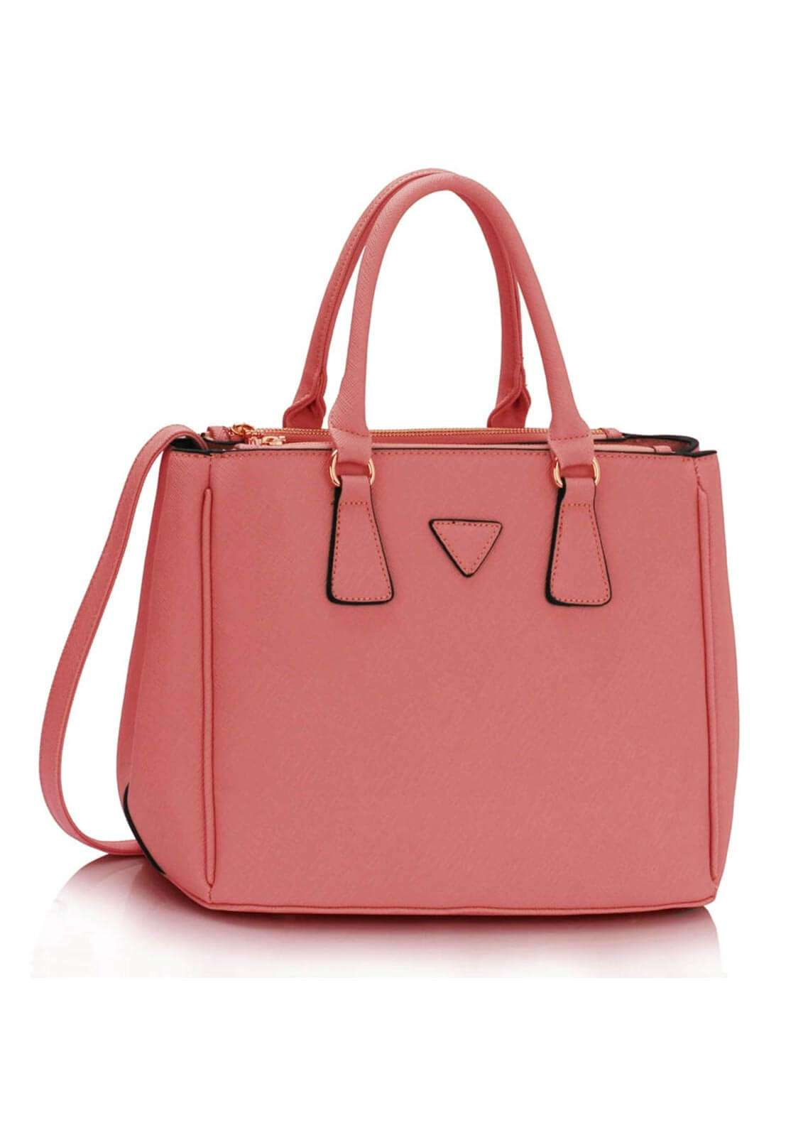 Fashion Only Faux Leather Tote  Bags for Woman - Pink