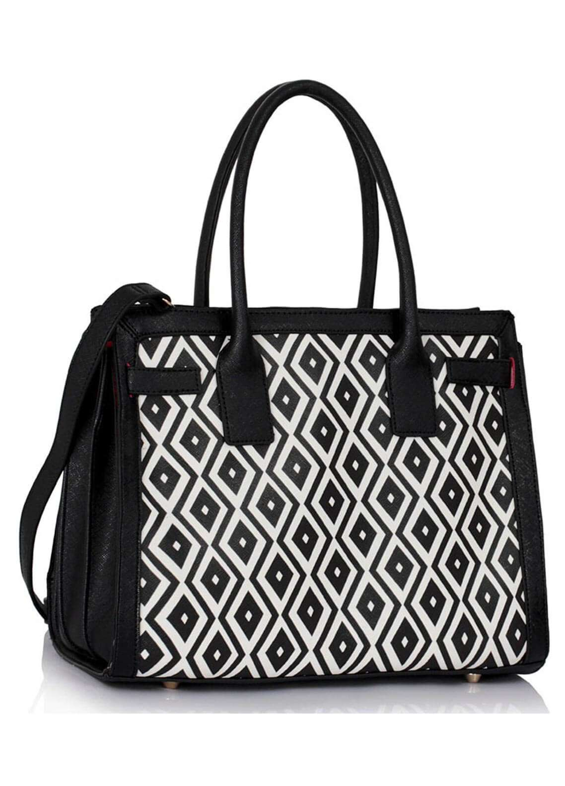 Fashion Only Faux Leather Tote  Bags for Woman - White