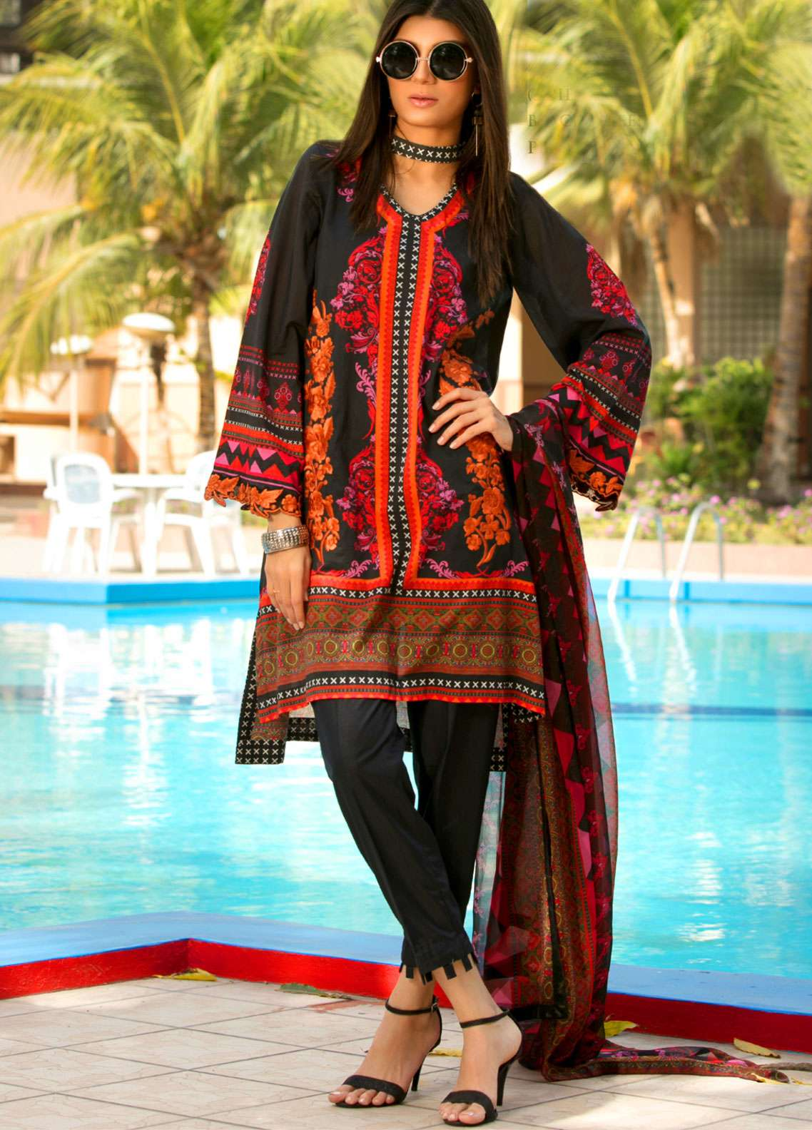 Fateh Embroidered Lawn Unstitched 3 Piece Suit FT19L FS-0130 - Spring / Summer Collection