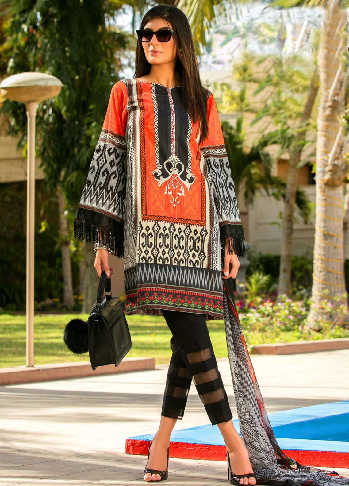 Fateh Embroidered Lawn Unstitched 3 Piece Suit FT19L FS-0131 - Spring / Summer Collection