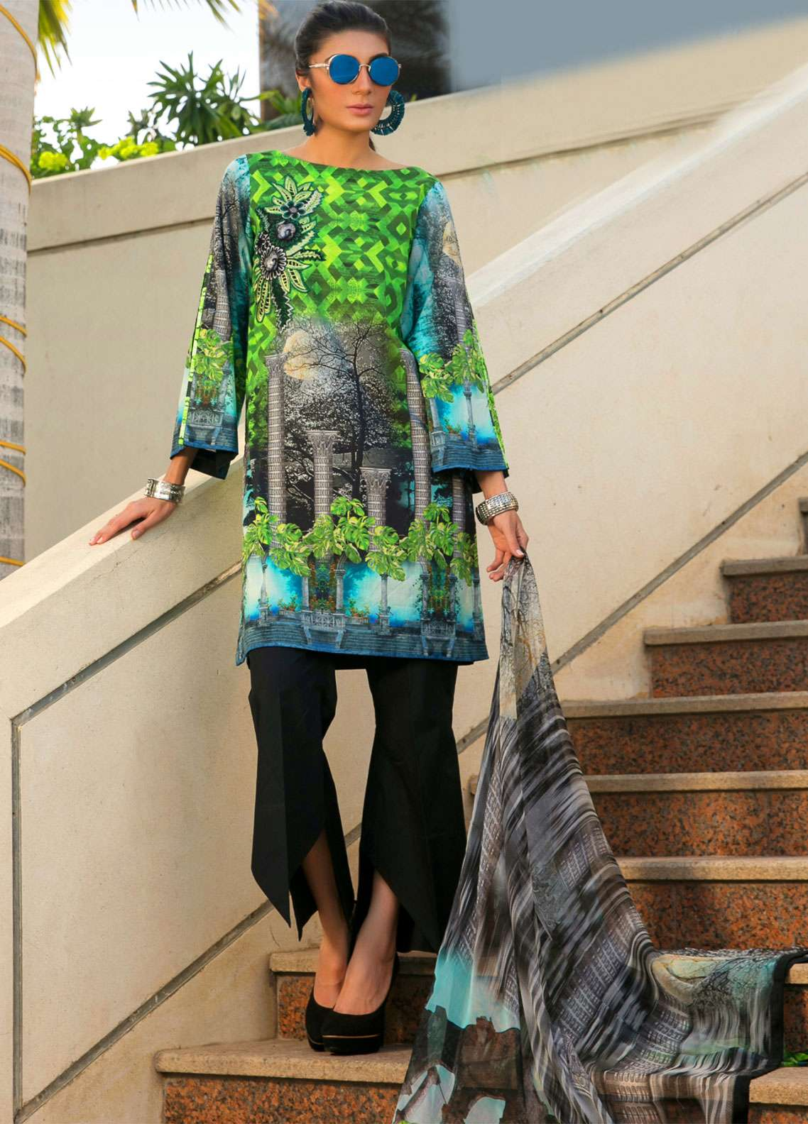 Fateh Embroidered Lawn Unstitched 3 Piece Suit FT19L FS-0133 - Spring / Summer Collection