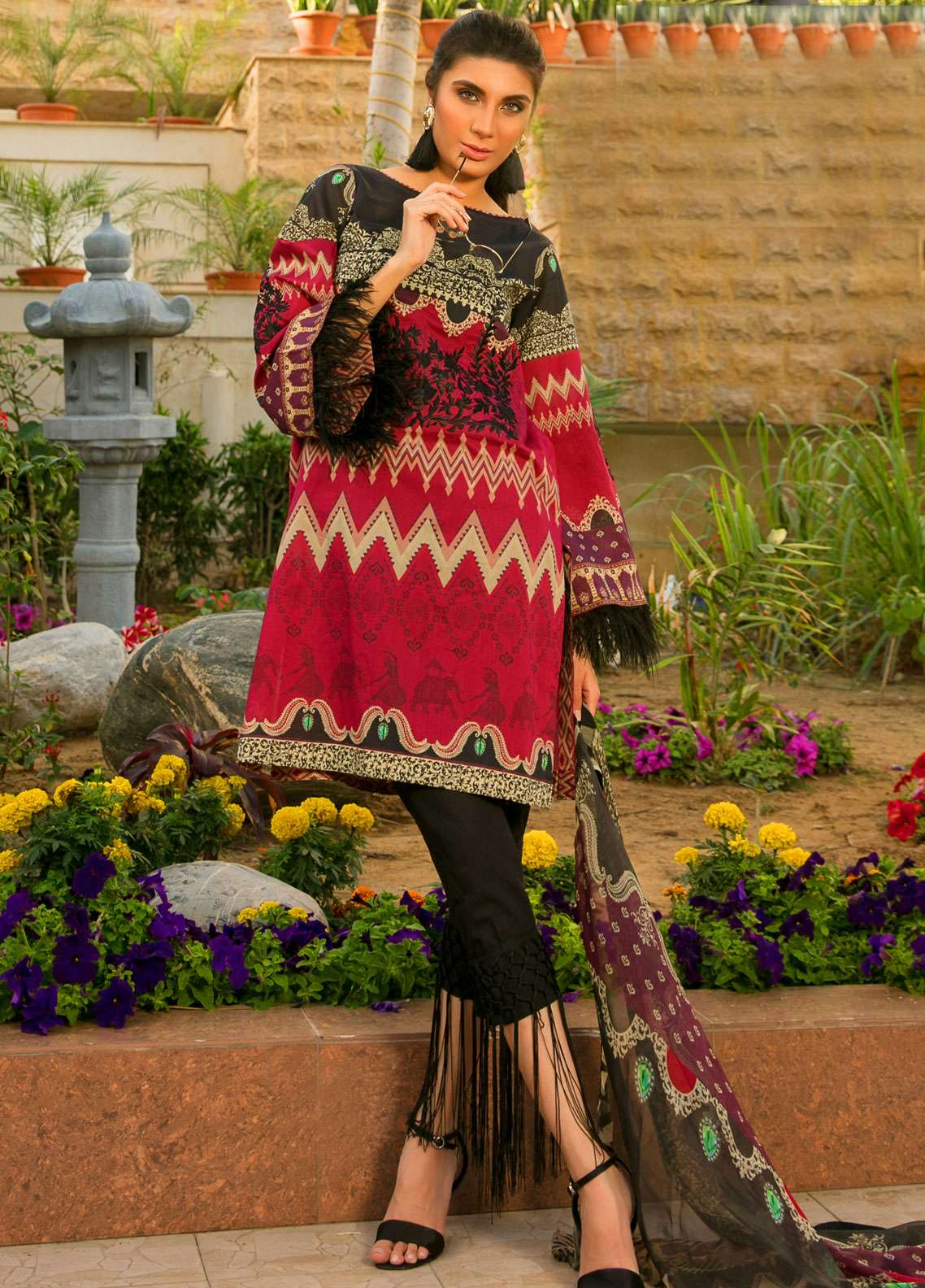 Fateh Embroidered Lawn Unstitched 3 Piece Suit FT19L FS-0134 - Spring / Summer Collection