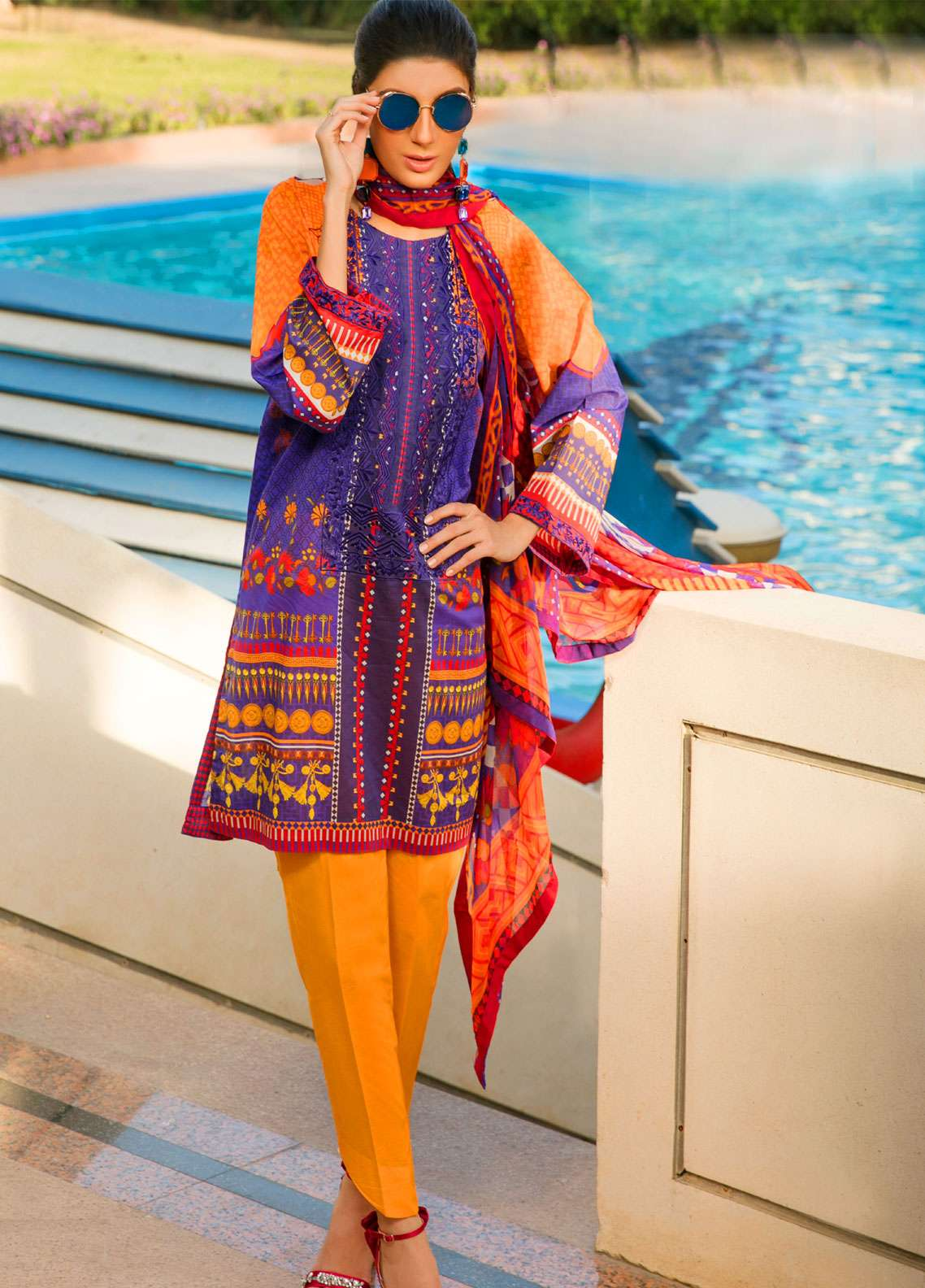 Fateh Embroidered Lawn Unstitched 3 Piece Suit FT19L FS-0135 - Spring / Summer Collection