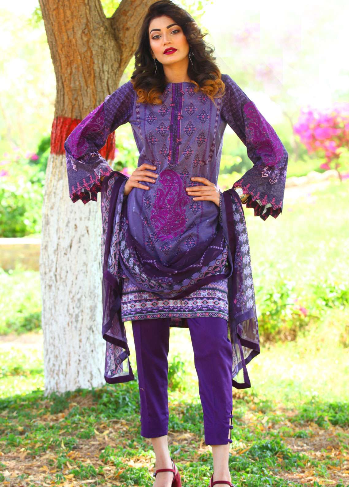 Fateh Embroidered Lawn Unstitched 3 Piece Suit FT19L FS-0136 - Spring / Summer Collection