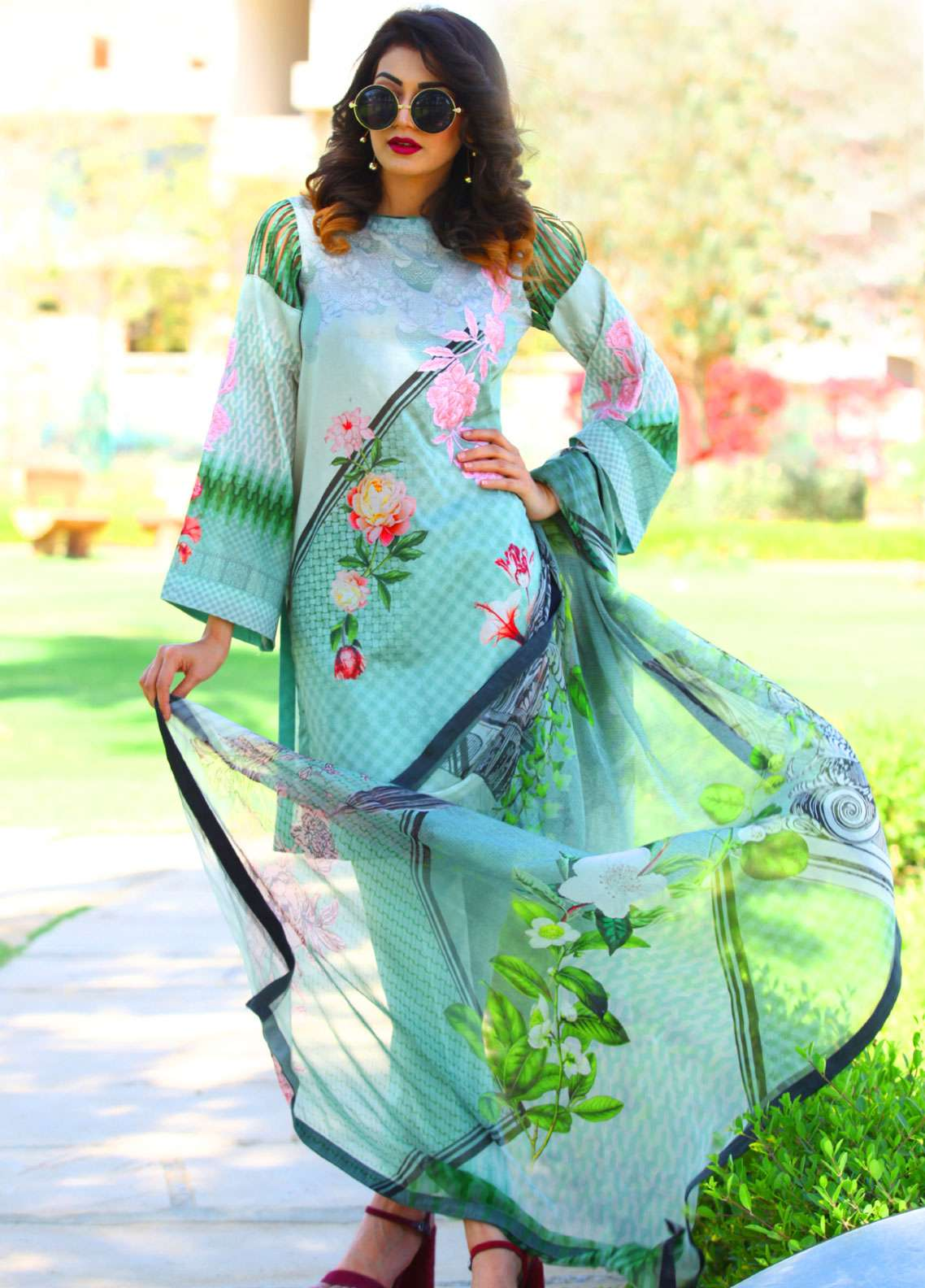 Fateh Embroidered Lawn Unstitched 3 Piece Suit FT19L FS-0137 - Spring / Summer Collection