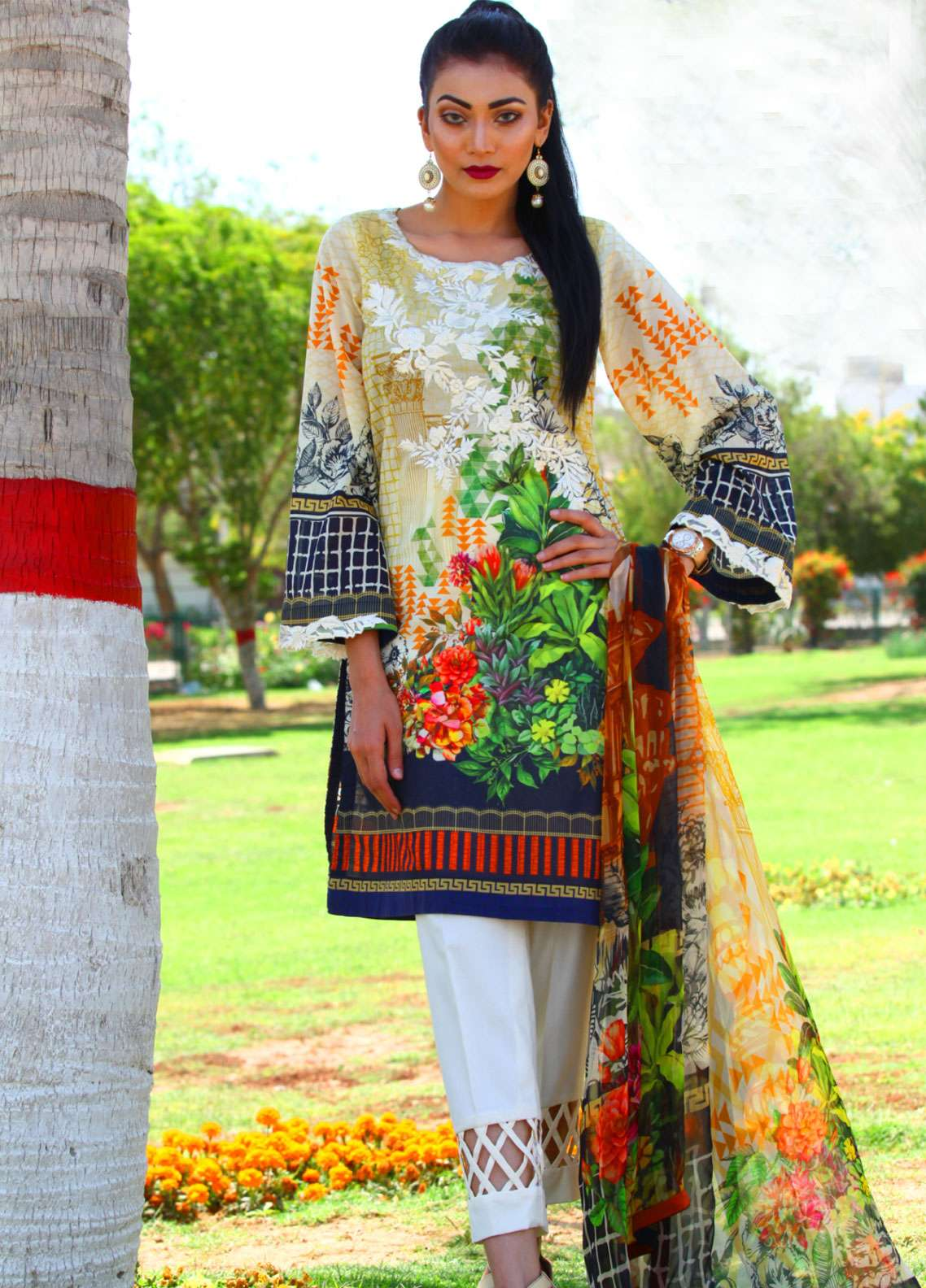 Fateh Embroidered Lawn Unstitched 3 Piece Suit FT19L FS-0139 - Spring / Summer Collection