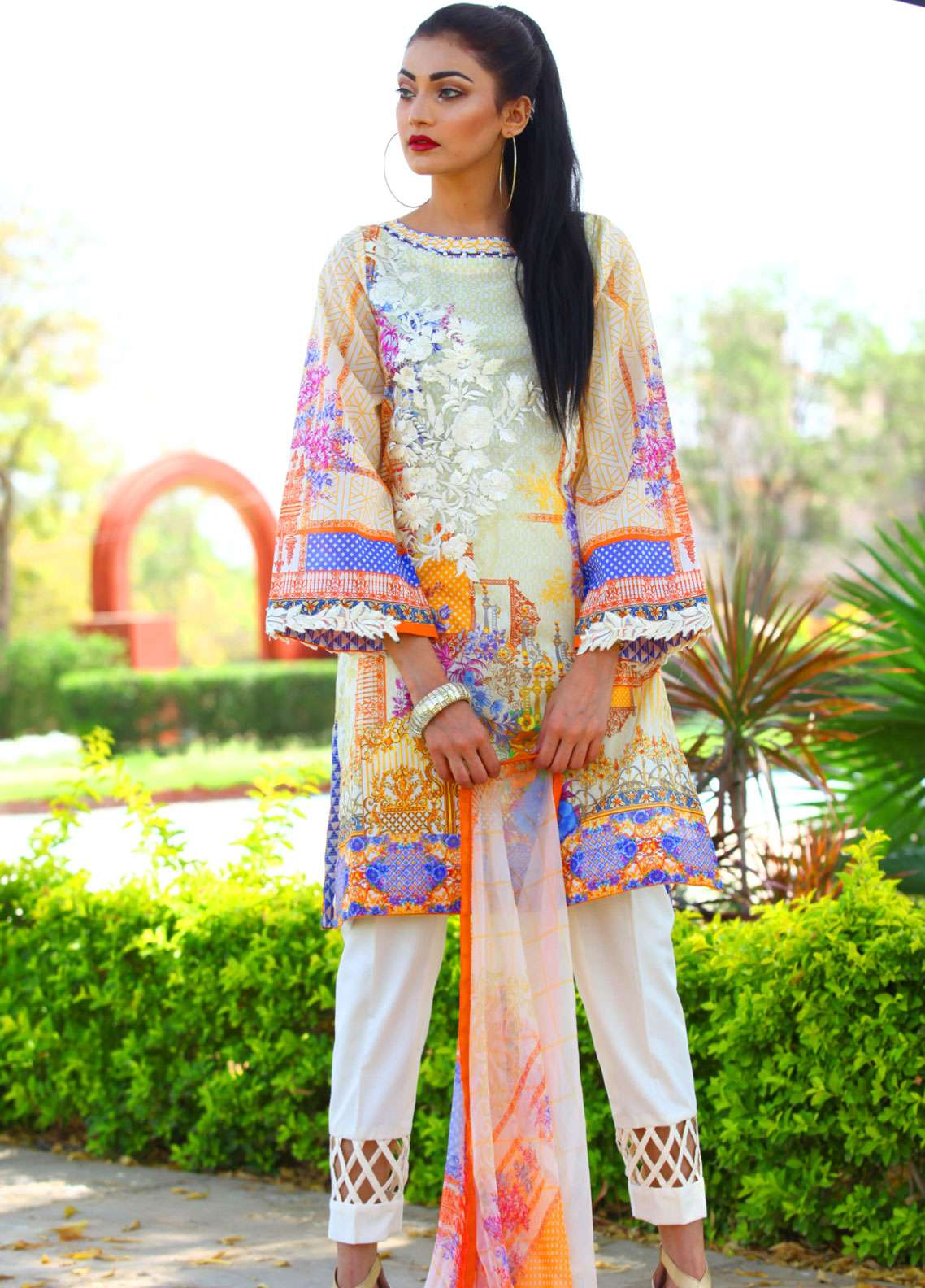 Fateh Embroidered Lawn Unstitched 3 Piece Suit FT19L FS-0140 - Spring / Summer Collection
