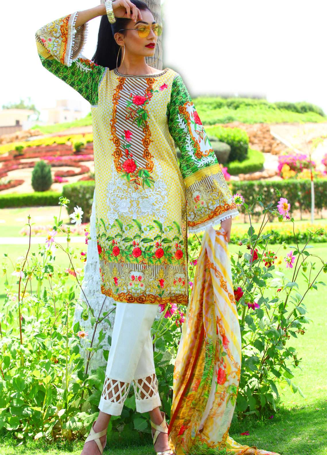 Fateh Embroidered Lawn Unstitched 3 Piece Suit FT19L FS-0141 - Spring / Summer Collection